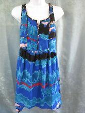 """I """"Heart"""" Ronson Tie Dye Print Dress Size 8 NWT Flowy Scarf Hem"""