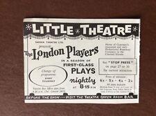 da2 ephemera 1964 advert guernsey little theatre the london players