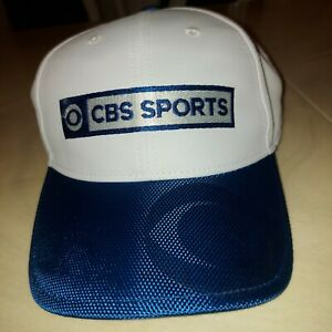 CBS Sports White And Navy Strap back Hat New