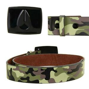 NIXON Mens Camouflage Leather Belt with All Black Enamel Buckle size MEDIUM  New