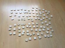 BAYKO WHITE BRICK AND WHITE END BRICK - 100 Pieces