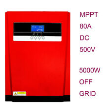 5000W Hybrid Inverter 48V 220V AC  500V DC MPPT 80A Solar Charger Controller