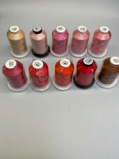 10x 5000m Rayon Embroidery Thread High Quality Italian. Red, Pinks And Orange