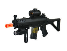 Double Eagle M82p Full Auto Airsoft Electric Gun w/ Red Dot Scope + Flashlight