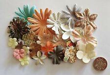 NO 008 Scrapbooking - 16 Mixed Prima Paper Flowers - Scrapbook