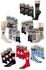 Trachten-Socken mit Motiv, im 3er Pack, Oktoberfest Bavaria Bayern