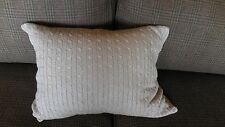 Ralph Lauren ODEON Cable Sweater knit Metalic Tread Pillow 15x20 NWT MSRP$135