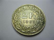 Suisse. Switzerland. 2 Francs. Argent. 1963