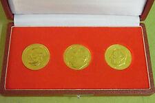 3 Stck DDR Medaillen - MfS - Ministerium für Staatssicherheit - goldfarben - 2.