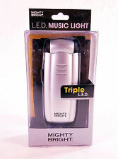Mighty Bright Triple L.E.D. Music Light - Silver BRAND NEW QuinnTheEskimo