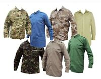 Mens Airsoft Army Combat Work Jacket/Shirt Camo Military Cargo Camouflage Shirt