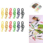 50 Pcs/Box Of Paper Clips Office School Home Stationery Color Paper Plips