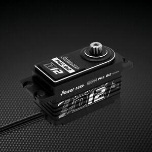 Power D12 Reverse Wire Low Profile (0.059s/12.5kg/7.4V) Coreless Servo, RCKITOUT
