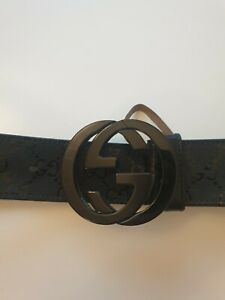 Gucci GG Supreme Leather Belt Size 44