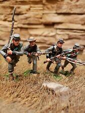 Conte ACW #57150 Texas Brigade Advancing Set (4 Figures, 54mm Metal Set, RETIRED