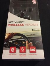 Wireless Bluetooth Headset for Smartphones Includes Car Charging Kit by Emerson