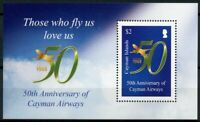 Cayman Islands Aviation Stamps 2018 MNH Cayman Airways 50th Anniv 1v M/S