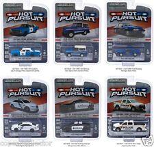 Greenlight 1/64 Hot Pursuit 16 Police Cars Set of 6 Michigan, Chicago, Corning +