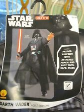 New Adult Darth Vader Halloween Costume Men's Size M 38-40 Mask Cape Boot Tops
