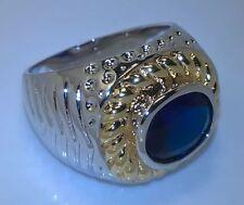 Sapphire White Gold Filled 18k Jewellery for Men