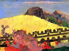 PAUL GAUGUIN THERE IS TEMPLE OLD MASTER ART PAINTING PRINT POSTER 2244OMA