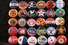 World Communist Socialist Party Solidarity Lot 30 Button Badge Pin Political Set