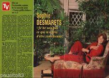 Coupure de presse Clipping 1982 Sophie Desmarets  (2 pages)