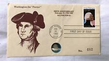 1982 George Washington the Patriot Silver Coin & Stamp 1st Day Issue