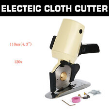 "Electric Cloth Cutter 4.3"" Fabric Leather Cutting Machine Round Scissors Rotary"