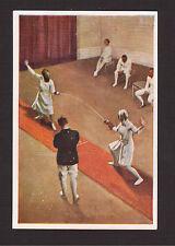 Fencing Ladies Female Vintage 1932 Sanella Sports Card