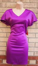 FEARNE COTTON PURPLE SATIN BOW BACKLESS BODYCON PARTY XMAS PROM DRESS 8 S