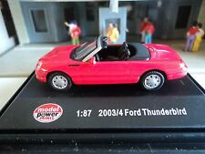 MODEL POWER  2003/04 FORD THUNDERBIRD  RED  CONVERTIBLE   1/87  HO CAR  DIE CAST