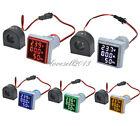 AC0-100A 60-500V 3 in 1 LED Digital Voltmeter Ammeter Hertz Meter Indicator 22mm