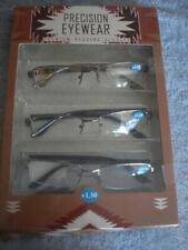 BRAND NEW SET OF 3 PRECISION EYEWEAR PREMIUM READING GLASSES (+1.50)