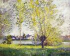 Claude Monet The Willows Fine Art Print Repro CANVAS HQ Home Decor Small 8x10