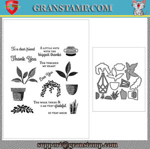 PLANTS Metal Cutting Dies And Stamps for Scrapbooking card 2021