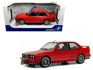 Solido 1:18 1990 BMW M3 E30 Coupe Red Diecast Model Car S1801502 New In Box