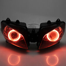 Red Angel Eyes Projector HID Assembly Headlight For Yamaha YZF R1 2000-2001