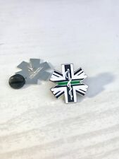 THIN GREEN LINE STAR OF LIFE UK NURSE DOCTOR AMBULANCE MEDIC MOURNING PIN BADGE