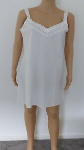 New Women Ladies Ex BHS White Polycotton Full Slip Under Dress Petticoats 10-20