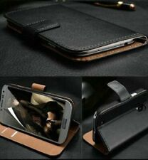 Samsung Galaxy S3 Wallet Cover Flip Case Luxury Genuine Real Leather