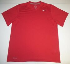 Mens Nike Dri-Fit Short Sleeve Ss Shirt Large Red Athletic Running Workout