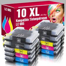10 Druckerpatronen für Brother DCP-J315W DCP-J140W DCP-J125 LC985