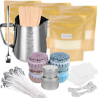 Candle Making Kit Supplies, Soy Wax Making Kit Including Pot, Wicks, Stickers, T