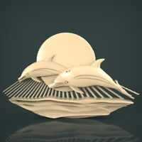 (1006) STL Model Dolphins for CNC Router 3D Printer Artcam Aspire Bas Relief