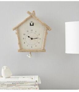 Pottery Barn Kids Birch Wood Cuckoo Clock On Hand Now, New