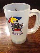 Vintage Budweiser Beer SPUDS MACKENZIE Bud Light Plastic Mug / Cup 1986