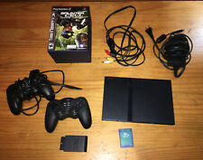 Sony PlayStation 2 SLIM SCPH-75001 PS2 W/ Games, Controllers & Memory Card EUC
