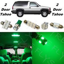 16x Green LED lights interior package kit for 1992-1999 2 door Tahoe/Yukon CT4G