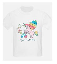 T-Shirt farbig+Foto-Einhorn-Spruch-Fun-Name-Sport-Verein+TOP Qualität